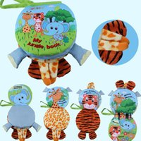 Animale 3D multifunzionale infantile Early Development Toy Puppets Hand Panno Libro Farms / Forests Animal WJ319