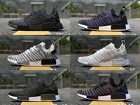 Wholesale Nice Cities - NMD R1 2017 City Sock Black Vintage White OG Primeknit SUP Nice Kicks Triple Black Women Men Nmds Runner Running Shoes 36 45