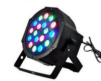 barras de luz de estágio led venda por atacado-18X3W LED Stage Lâmpada RGB Par Light com DMX512 Equipamentos Master 110V 220V para DJ KTV Bar Iluminação Decoração EU EUA Plug CE ROSH 54W