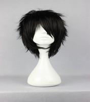 Wholesale Black Boy Wig - Top Center Design Anime The Prince of Tennis Akaya Kirihara Classical Asia Curly Black Cosplay Wig