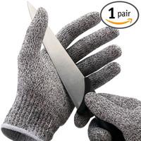 Wholesale Slash Gloves - 1 Pair Cut Resistant Gloves NoCry High Performance Level 5 Protection Anti Slash DHL Free OTH300