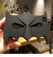 Wholesale Iphone 4s 3d Batman Cases - Soft silicone case for iPhone 8 7 6 6s plus 5s SE 4s Halloween 3D Cartoon batman mask Fundas Rubber Cover Phone cases