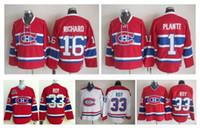 Wholesale vintage canadiens jersey ccm - Throwback Montreal Canadiens Hockey Jersey 33 Patrick Roy Jersey 1 Jacques Plante 16 Henri Richard Vintage CCM Authentic Stitched Jerseys