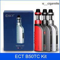 elektronische zigaretten zerstäuber licht großhandel-ECT B50 Temperaturregelung Starter-Kits e Zigarette Verdampfer mod vape mod beleuchtete Mini-Zerstäuber 2,0 ml 2200mah elektronische Zigarette Kits