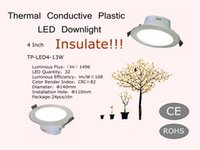 Isolare!!! Hot Sell 4 pollici Thermal Conductive Plastic LED Downlight 220V 13W