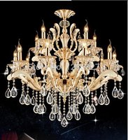 Wholesale Modern Chandeliers Gold Metal - Free Shipping Classic Metal Crystal chandelier Gold Color Crystal Luster Hanging Lamp 3 Designs for selection