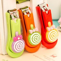 Wholesale Colorful Nail Clipper - cute various types stainless steel baby nail clipper New Nail Clippers Fashion Colorful Cute Cartoon Nail Finger Clipper Scissor N01