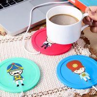 Wholesale Coffee Cup Heater Usb - New Design Milk Tea Coffee Mug Cup 5V USB Warmer Coffee Tea Mug Milk Water Warmer USB Silicone Heat Warmer Drinks Heater
