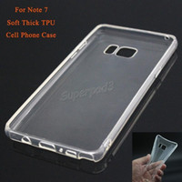 Wholesale mobile cell phone cover crystal for sale – best Cheap Cell Phone Cases For Samsung Galaxy Note Back Cover Soft Thick TPU Crystal Transparent Mobile Phone Case Cover