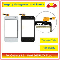 "Wholesale Optimus L3 Ii - High Quality 3.2"" For LG Optimus L3 II Dual E435 L3X E430 E425 Touch Screen Digitizer Outer Glass Lens Panel"