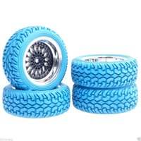 Wholesale Hsp Rc Tires - RC HSP 2083-8019 Wheel Offset 6mm & Rally Blue Tires For 1:10 On-Road Rally Car