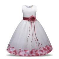 ingrosso guanti blu vestito-No.3 New Flower Dress Little Girl Lace Abiti festa di compleanno Ceremonious Wedding Toddler ragazze vestiti Girl Dress For Kids