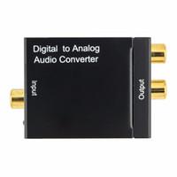 ses çevirici toslink rca toptan satış-Yeni Dijital Analog Ses Dönüştürücü Adaptör Dijital Adaptador Optik Koaksiyel RCA Toslink Sinyal Analog Ses Dönüştürücü RCA