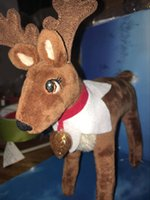 Wholesale Cloth Book Toy - Wholesale X-mas Elf Doll Animal Deer Dolls Xmas Toy GOOD Quality with BOOK on the Shelf Reindeer Pets with Book for Kids