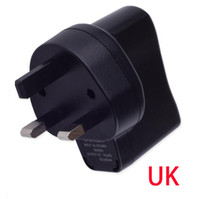 UK cargador de pared negro e cig carga ego adaptador de enchufe para línea de cable usb ego batería ecig kit de cigarrillo electrónico de alta calidad DHL