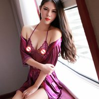Wholesale Nightgown Women Sex - Sexy Lingerie Babydoll Sex Product Women Underwear Sexy Costume Lace Erotic Nightgown Intimate Lenceria Mujer Robe Role-Playing Game Clothes