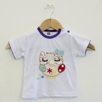 Wholesale Toddler Girl White T Shirt - Newborn Toddler Infant Baby Boy Clothes T-shirt Top Tee White Dot Cotton Tshirts for baby girls 5 pcs