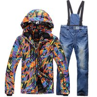 Wholesale Cheap Men S Winter Clothes - Wholesale-Breathable Thermal Cheap Ski Suit Windproof Ski Jacket Men Suits More Colors Skiing And Snowboarding Winter Ski Clothing Sets