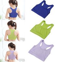 Wholesale Top Hot Bra - Wholesale-Hot Women GYM Sports Bra Vest Tops Strap Chest Wrap Sports Crop Tops Vest