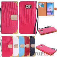 Wholesale Galaxy S4 Flip Wallet - Luxury Rhinestone Lizard Pattern Flip Leather Wallet Case Pouch Credit ID Card Slot Cover Skin for Galaxy S6 Edge S5 S4 Note4 S6Edge SGS6C47