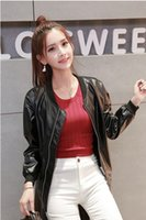 Wholesale Cheapest Leather Jackets - Cheapest Korean BF Leisure Leather Jacket Coat As The Picture