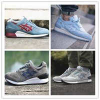 Wholesale Hot Women America - Hot Sale Gel Lyte V 5 RESPECTOR Captain America Outdoor 3 Casual Shoes Men And Women Lightweight Breathable Athletic Sneakers size 36-44