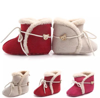 Wholesale Infant Girls Boots - Kids winter Shoes infant Cotton boots Girls boys Fashion Baby First Walkers B11