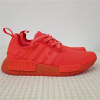 Wholesale Wholesaler For Red Running Shoes - 2017 Hot Sale NMD R1 Solar Red Running Shoes for Men S31507 Perfect High Quality Version NMDs RI Runner Sneakers Women