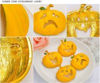 Wholesale Europe Costume Jewelry Wholesale - Europe and the United States jewelry cute dress Halloween costumes wholesale Halloween pumpkin children drop oil brooch sample custom