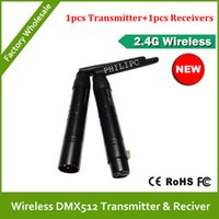 Wholesale DHL GHz wireless DMX512 Transmitter and Receiver