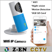 Wholesale Ip Camera Wireless Internet Card - Wireless Baby Monitor 720 Wifi IP Camera With 8GB SD Card Nightvision Intercom Wireless Security Cameras Remote Via Smart Phone