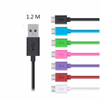 Wholesale Usb Pin Long - 1.2M long Micro 5 Pin usb data charging cable for Samsung S7 S6 with retail package