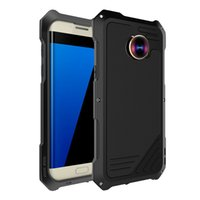 Wholesale Galaxy Micro Lens - Armor Hybrid Aluminum Cell Phones Cover For Samsung Galaxy waterproof Anti-shock with Fish Eyes +Wide Angels +Micro Lens phone accessories