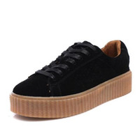creepers achat en gros de-2017 Nouvelle Charité Fenty Suede Cleated Creeper Femmes Fenty Creepers Par Rihanna Chaussures Casual chaussures TAILLE 35-44
