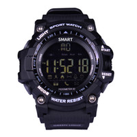 ingrosso orologio militare-EX16 Smart Watch Men Sport Watch 5ATM IP67 Impermeabile Pedometro Bluetooth 4.0 Military Call SMS Promemoria Cronometro sveglia per Android a