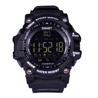 Wholesale Remote Control Stopwatch - EX16 Smart Watch Men Sport Watch 5ATM IP67 Waterproof Pedometer Bluetooth 4.0 Military Call SMS Reminder Stopwatch alarm clock for Android a