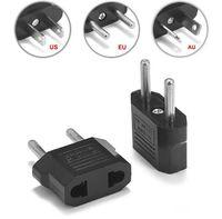 Wholesale converter adapter usa au for sale - Group buy US EU to EU AU AC Power Plug Converter Adapter Adaptor USA to European Black Plastic Travel Converter Max W Two Pins