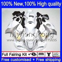 Wholesale Hayabusa Fairing White Silver - White silver Body Bodywork For SUZUKI Hayabusa GSXR1300 08 09 10 11 19XH55 GSX R1300 2008 2009 2010 2011 GSXR 1300 12 13 14 15 Fairing kit