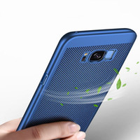Wholesale Galaxy Hard Phone Cases - luxury hard matte cases for samsung galaxy s8 case cover shockproof Heat dissipation full Protection for s8 plus phone shell bag