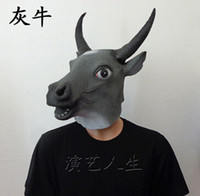 Wholesale Discount Full Silicone - Novelty Creepy Horse Halloween Head latex Rubber Horse head mask Prop Party Horse Mask Offering Discounts silicone mask