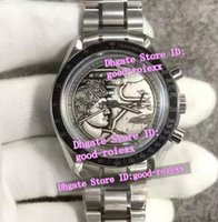 Wholesale apollo stainless steel - Limited Edition Mens Special Dial Mechanical Chronograph Watch Men's Eta 7750 Valjoux Crystal Men Moon Anniversary Apollo XVII Watches