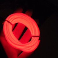 Eelectroluminescent 5mm Diameter Red Color 3M Lenth EL fio de alumínio + <b>Dc3v Battery</b> Inverter In Cheapest Price