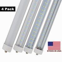 Wholesale Usa Pins - 8ft led tubes single pin FA8 t8 led light tubes Double Rows 72W 45W LED Fluorescent Tube Lamps AC 85-265V + Stock In USA