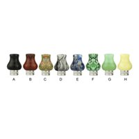 Wholesale Wholesale Jade Carved - Jade Store 510 Drip Tip E Cigarettes Carving Art Glass Drip Tip Jade stone Drip Tip with Stainless Steel Wide Bore Atomizer Mouthpieces