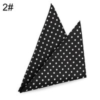 Wholesale Hankerchief Pocket - Top 2017 Hanky Solid polka dots Men's Fashion Pocket Square Hankerchief Wedding Party Hankerchief