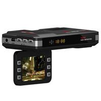 Wholesale Speed Camcorders - V10 2 in 1 Car DVR Camera HD 720P Vehicle Video Recorder Dash Cam Registrator Camcorder Radar Laser Speed detector Test Night Vision GPS