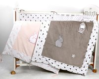 Wholesale Cheap Girls Comforters - High quality 100% cotton comforter cover baby quilt applique 115*90cm toddler girl boy crib beddding cartoon cheap cot quilts