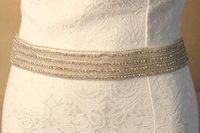 Wholesale Bridal Wedding Belts - BOW-28 New Bridal Wedding Formal Dress Luxurious Upscale Wide Crystal Rhinestone Wedding Belt   sash with Rhinestone Trimming