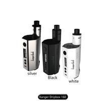 Wholesale Original Kanger Mini - 100% Original Kanger Dripbox 160 Starter Kit with 7ml Liquid Capacity KangerTech Dripbox 160w Box Mod vs Subvod Mega Kit vs Topbox Mini Kit