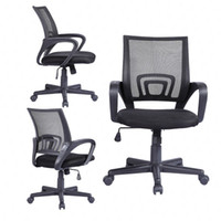 Wholesale Ergonomic Midback Executive Swivel Mesh Office Chair Computer Desk Task Black